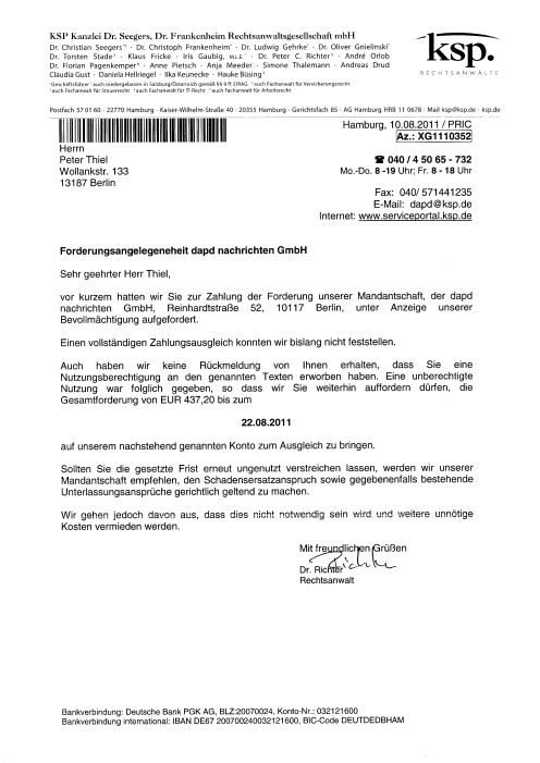 Ksp Kanzlei Dr Seegers Dr Frankenheim Rechtsanwaltsgesellschaft Mbh